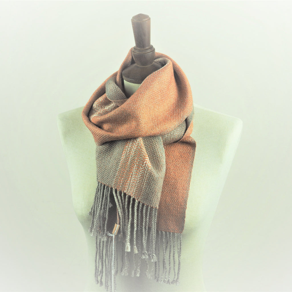 Booker, Cally – Grey and Peach Linn Scarf | Cally Booker | Primavera Gallery