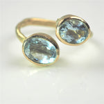 Allsopp, Disa – Double Aquamarine Gold Ring