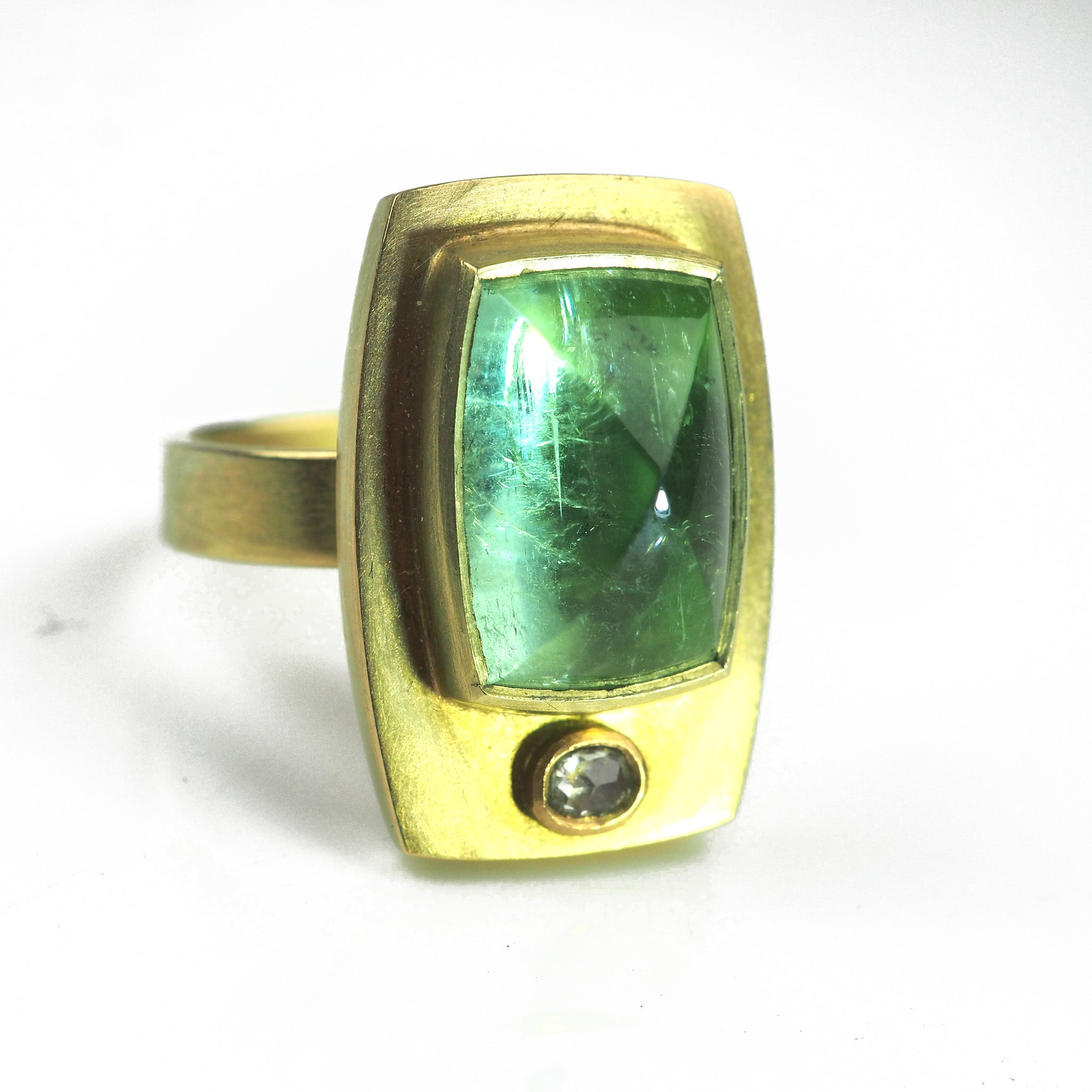 Mannheim, Catherine – Gold Ring With Green Tourmaline | Catherine Mannheim | Primavera Gallery
