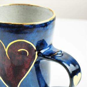Goldsmith, Robert – Large Blue and Gold Luster Mug | Robert Goldsmith | Primavera Gallery