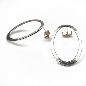 Latham and Neve – Halo Drop Silver Earrings | Latham & Neve | Primavera Gallery