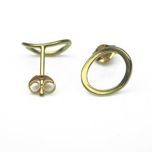 Latham and Neve – Total Honesty Gold Studs | Latham & Neve | Primavera Gallery