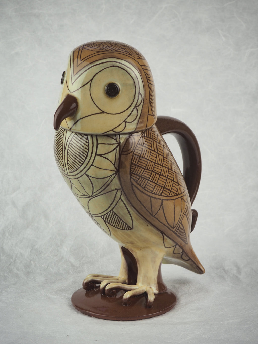 Arthur, Phil – Lidded Barn Owl Jug