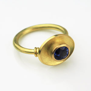 Scott-Moncrieff, Jean – Gold and Sapphire Ring | Jean Scott Moncrieff | Primavera Gallery