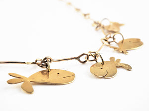 Gold Whale Necklace | Jemima Pine | Primavera Gallery