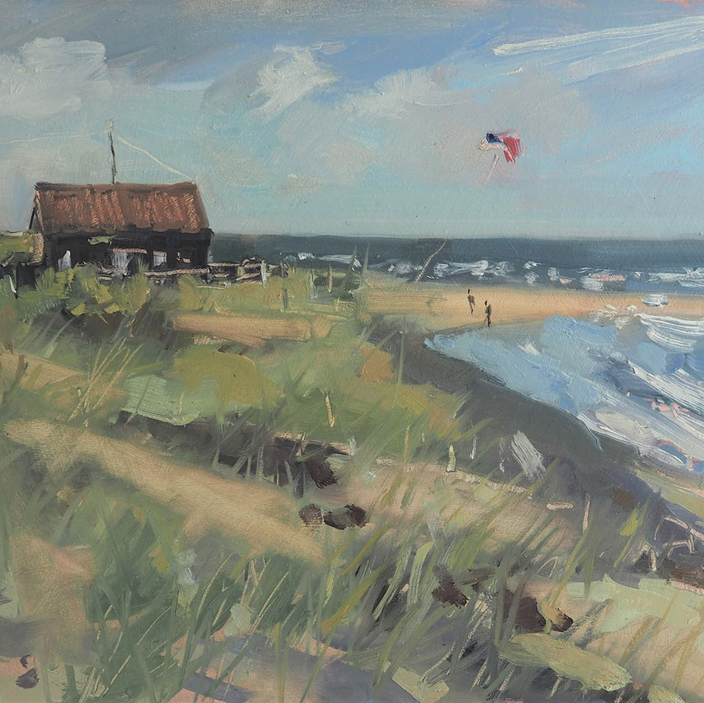 Allbrook, Sarah – 'Kite Flyer, Winterton-on-Sea' | Sarah Allbrook | Primavera Gallery