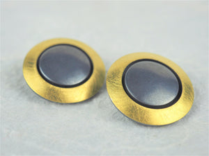 Klosowski, Kai - 22ct Gold and Oxidised Silver Clip-On Studs