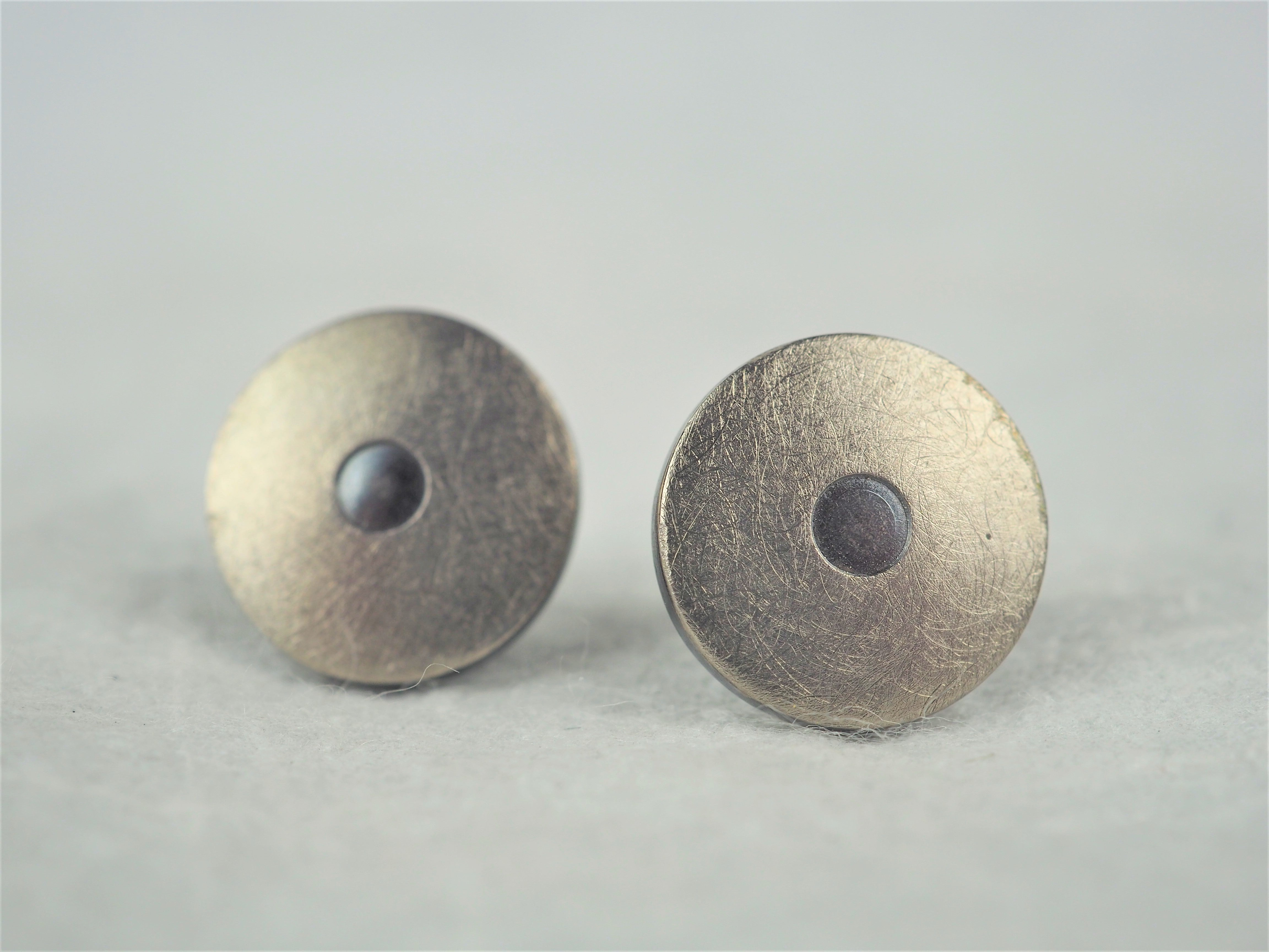 Klosowski, Kai - Oxidised Silver and Platinum Studs