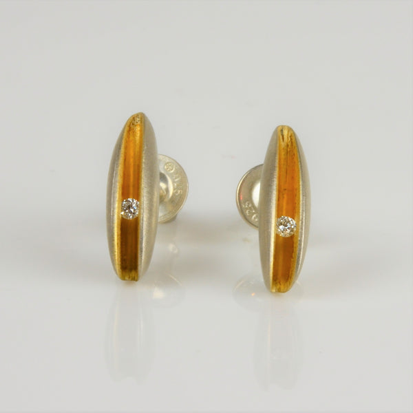 Finch, Paul – Silver and Gold Shell Earrings | Paul Finch | Primavera Gallery