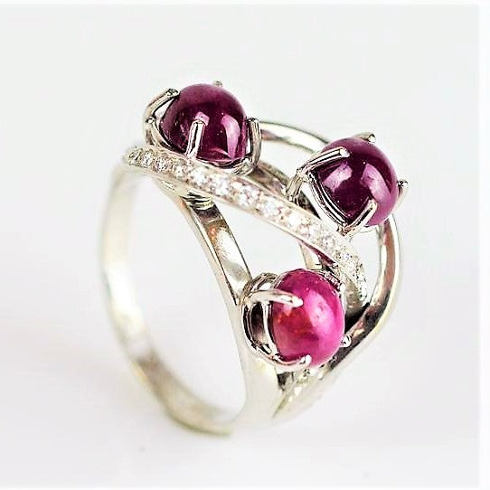 Verdolini, Roberto – White Gold, Diamond and Garnet Ring | Roberto Verdolini | Primavera Gallery