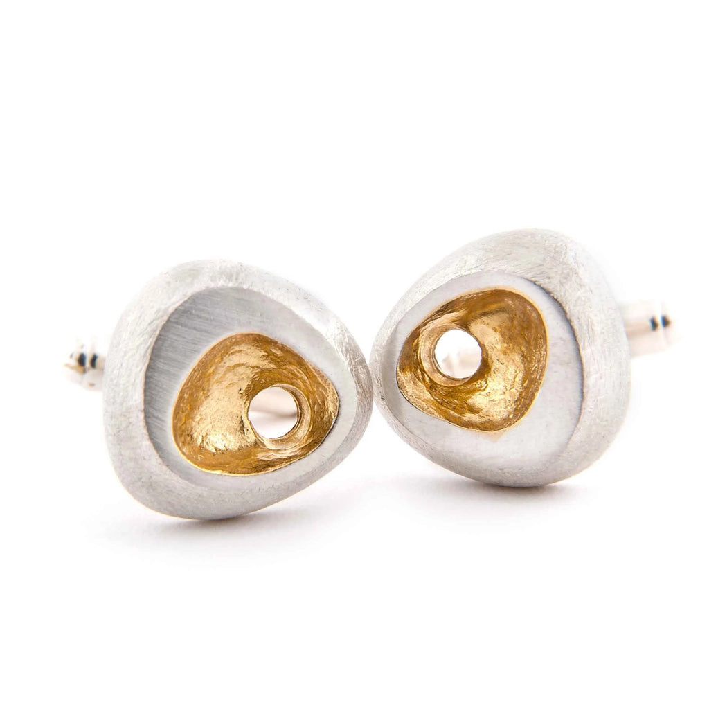 Latham and Neve – Gold and Silver Rock Cufflinks | Latham & Neve | Primavera Gallery