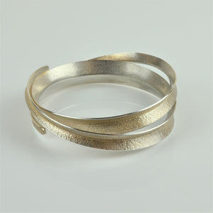 Johnson, Stephanie – Silver Curl Double Bangle | Stephanie Johnson | Primavera Gallery