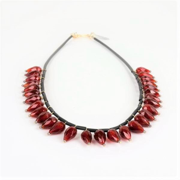 Carnelian Dangle Necklace | Sari Teitelbaum | Primavera Gallery