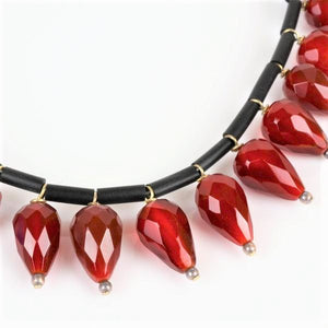 Teitelbaum, Sari – Carnelian Dangle Necklace | Sari Teitelbaum | Primavera Gallery