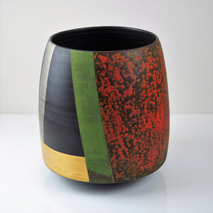 Laverick, Tony – Thrown Black Porcelain Vessel | Tony Laverick | Primavera Gallery