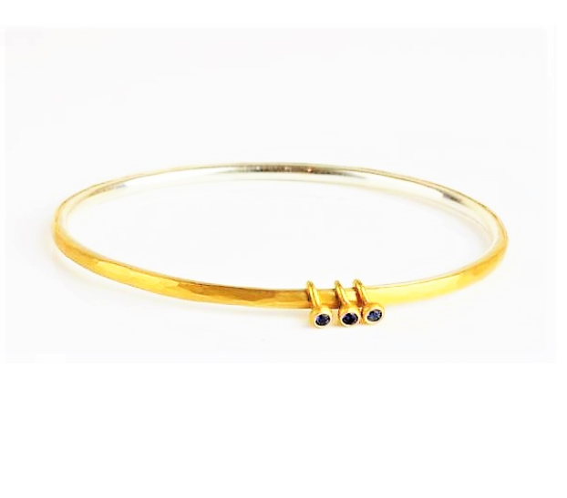 Betts, Malcolm – Gold, Silver and Sapphire Bangle | Malcolm Betts | Primavera Gallery