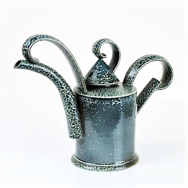 Keeler, Walter – Tea Pot in Blue Salt Glaze | Walter Keeler | Primavera Gallery