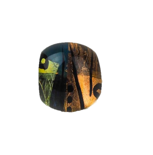 Klevan, Gail – Patterned, Multi-Coloured Acrylic Ring | Gail Klevan | Primavera Gallery