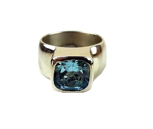 Lucas, Jackie – Silver Ring with Blue Topaz | Jackie Lucas | Primavera Gallery