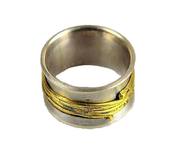 Van Niftrik, Syann – Silver and Gold Fiddle Ring
