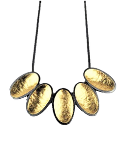 Wall, Jenifer – Silver and Gold Leaf Necklace