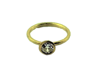 Betts, Malcolm – Yellow Gold Brilliant Cut Diamond Ring | Malcolm Betts | Primavera Gallery
