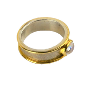 Palmer, Guen – Silver, Gold and Moonstone Ring