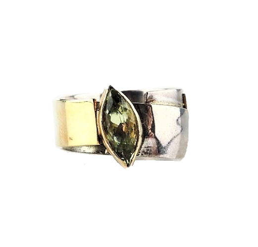 Hanl, Susanna – Silver and Green Gold Ring | Susanna Hanl | Primavera Gallery