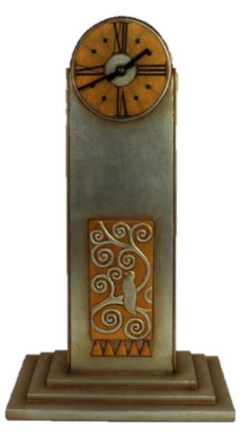 Metallic Wooden Clock | Julian Spencer | Primavera Gallery