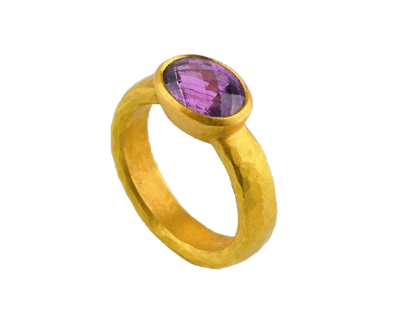 Betts, Malcolm – Gold Purple Sapphire Ring | Malcolm Betts | Primavera Gallery