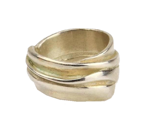 'Abigail' Polished Silver Ring | Michele Wyckoff Smith | Primavera Gallery