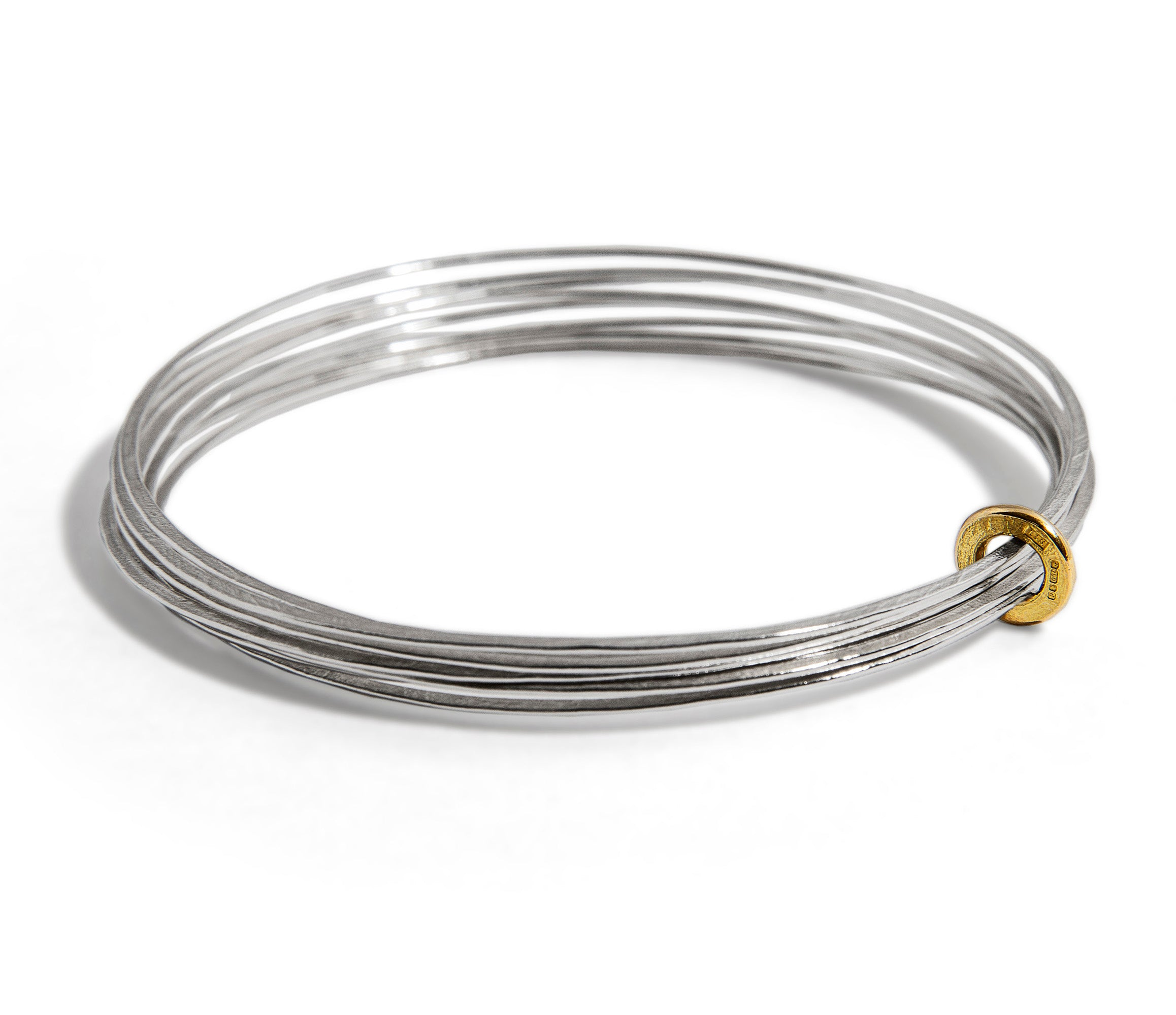 Latham and Neve – Gold and Silver Multi Ripple Bangle | Latham & Neve | Primavera Gallery