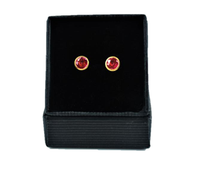 Betts, Malcolm – Gold Pink Sapphire Earrings | Malcolm Betts | Primavera Gallery