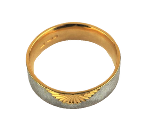 Wide Sunrise Ring with Gold Plating