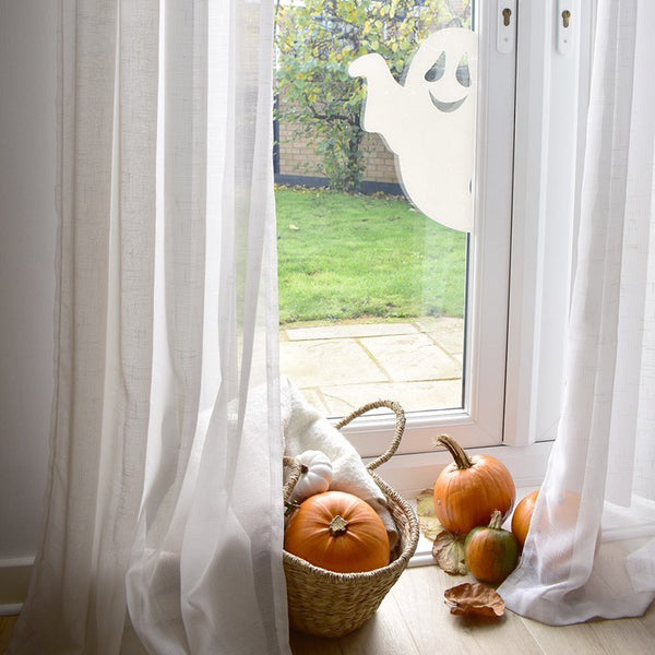 Easy Halloween Decorations That Stick On... and Peel Off Again!