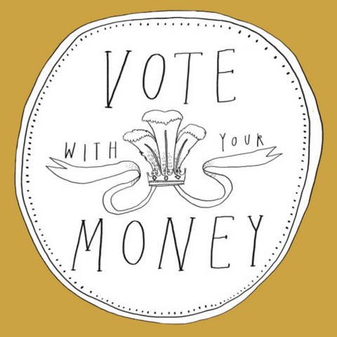 An image saying Vote with your Money