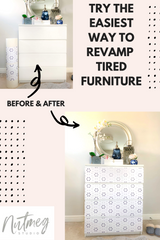 How to easily update old furniture using stickers