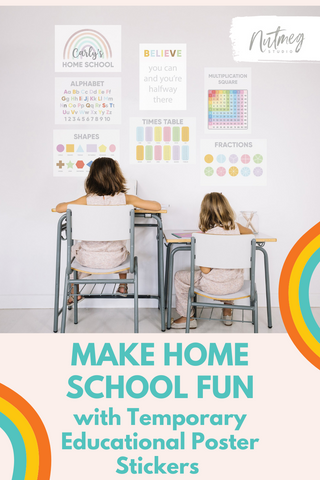 Make Distance Learning Fun with Temporary Homeschool Posters from Nutmeg