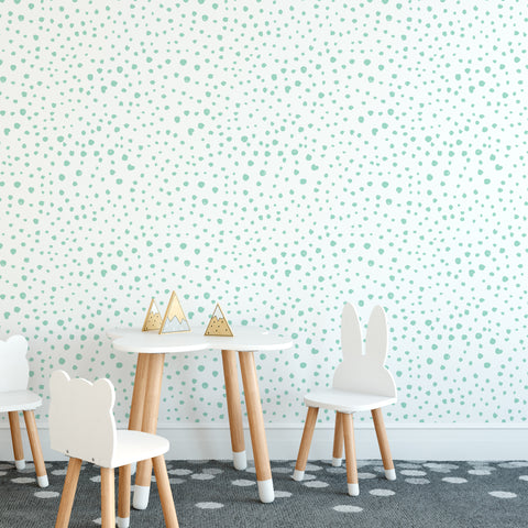Mint Dalmatian Dots Self-Adhesive Wallpaper Mint Dalmatian Dots Self-Adhesive Wallpaper Mint Dalmatian Dots Self-Adhesive Wallpaper