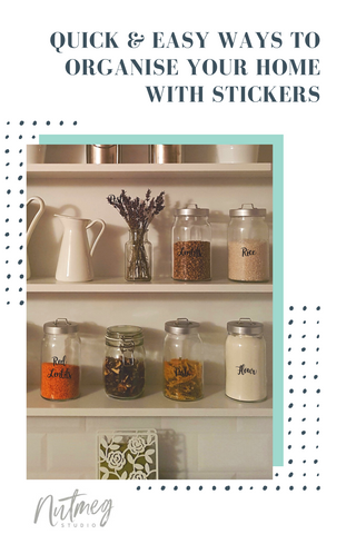 Quick and Easy Ways to Organise Your Home with Stickers