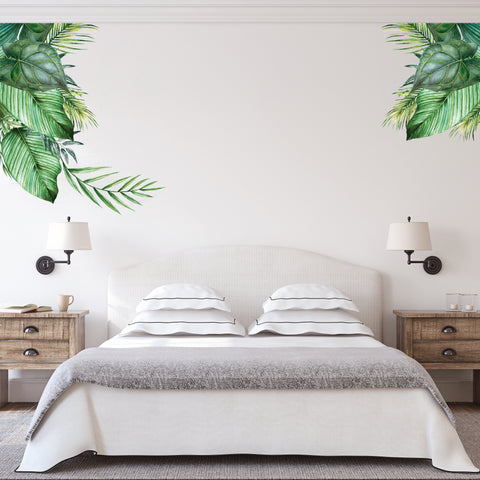 How To Create A Tropical Theme with Tropical Leaves Wall Stickers