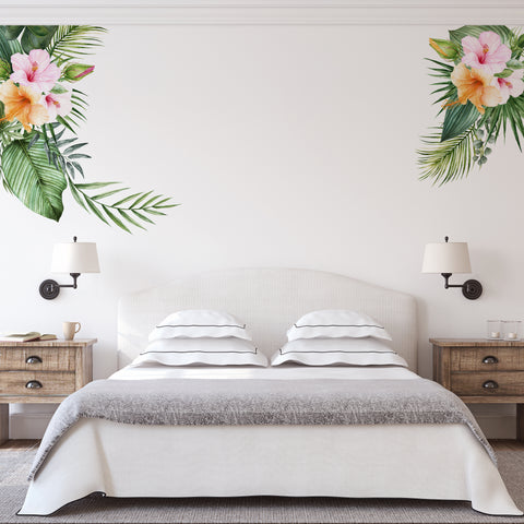 Floral tropical wall stickers