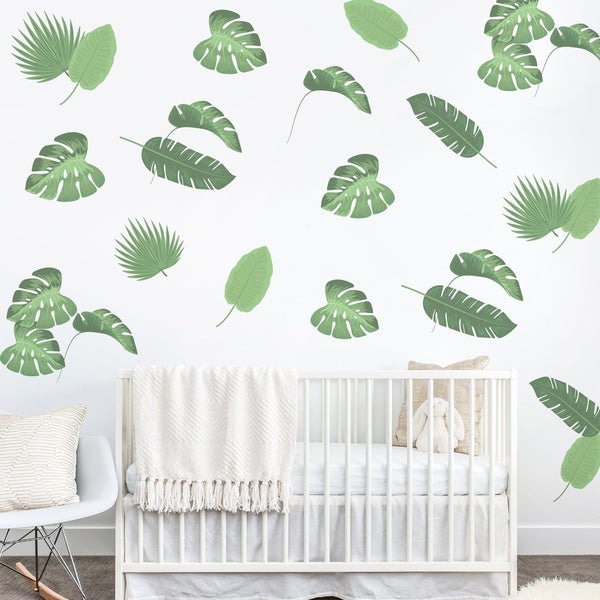Tropical Leaves Wall Sticker Mural