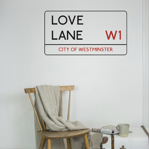 London Street Sign Wall Sticker