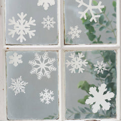How-to decorate your home with Christmas décals snowflake window sticker