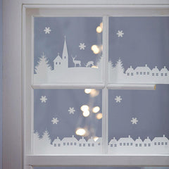 Wall Sticker Christmas Village Scene
