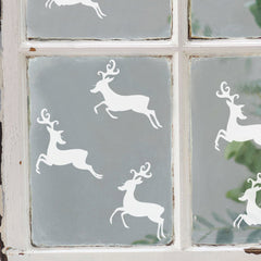 How-to decorate your home with Christmas décals reindeer window sticker