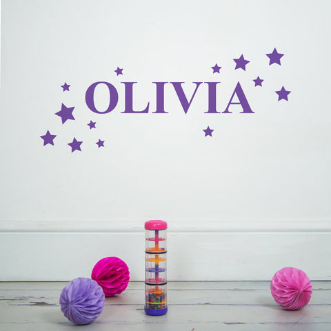 ultraviolet purple personalised wall sticker
