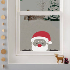 Peeping Santa Window Sticker