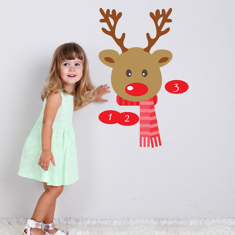 How-to decorate your home with Christmas décals reindeer game sticker